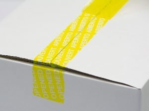 Economy security tape yellow after opening
